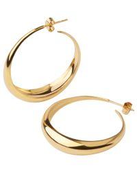 Dinny Hall Metallic Gold-plated Signature Scoop Hoop Earrings