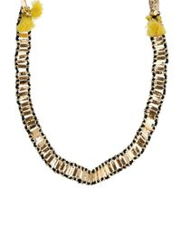 ASOS Yellow Tassel Bell Necklace