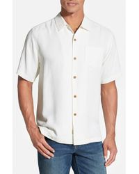 Tommy Bahama | Natural 'bedarra' Jacquard Silk Camp Shirt for Men | Lyst