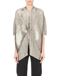 Pleats Please Issey Miyake | Gray Star Pleated Tunic | Lyst