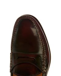 Gucci Red Penny Polished Leather Loafers for men