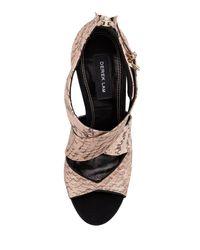 Derek Lam Natural Fayln Crisscross Snake Sandal
