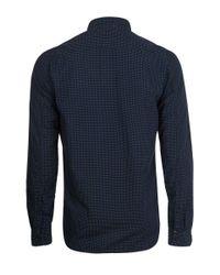 Nudie Jeans Blue Indigo Henry Dark Dotted Shirt for men