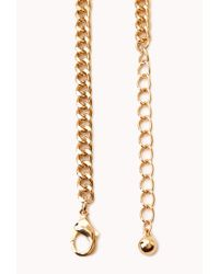 Forever 21 | Metallic Free Spirit Beaded Fringe Necklace | Lyst