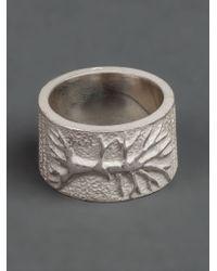 Tobias Wistisen Metallic Branch Ring for men
