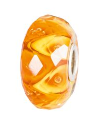 Trollbeads | Orange Sterling Silver Luminous Daylight Faceted Glass Bead | Lyst