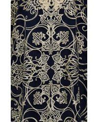 Marchesa Metallic Threadwork Embroidered Caftan