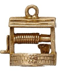 Annina Vogel | Metallic Vintage Gold Wishing Well Charm | Lyst