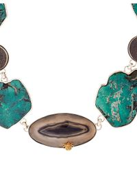 Stephen Dweck - Blue Turquoise Agate Slice Necklace - Lyst
