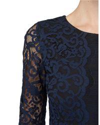 Erin Fetherston Blue Lace Embellished Sheath
