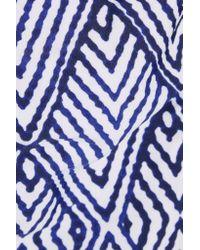ViX Blue Razi Printed Bandeau Swimsuit