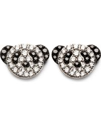 Qeelin | Black Fashion Bobo Diamond Stud Earrings | Lyst