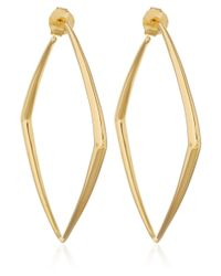 Dinny Hall | Metallic Large Gold Vermeil Cushion Hoop Earrings | Lyst