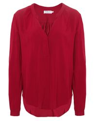 Velvet By Graham & Spencer - Red Kinzly Challis Top - Lyst