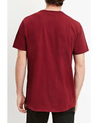 Forever 21 - Purple Side-zip Cotton Tee You've Been Added To The Waitlist for Men - Lyst