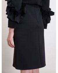 Simone Rocha - Black Neoprene Ruffle Pencil Skirt - Lyst