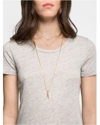 BaubleBar | Metallic Fang Layered Necklace Set | Lyst