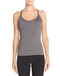 Alo Yoga Gray 'lotus' Bra Tank Top