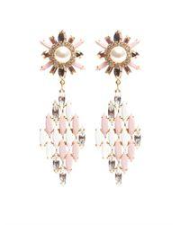 Shourouk - Pink Cobra Earrings - Lyst