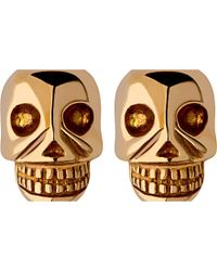Links of London | Metallic Mini Skull Yellow Gold Vermeil Stud Earrings | Lyst