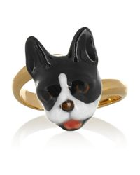 Finds Metallic + Nach Gold-Plated Porcelain Ring