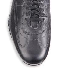 Cole Haan - Black Granada Leather Sneakers for Men - Lyst