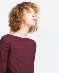 Zara | Purple Textured Top | Lyst