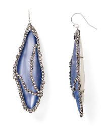 Alexis Bittar - Blue Crystal Caged Lucite Dragonfly Wing Earrings - Lyst