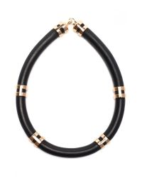 Lizzie Fortunato - Black Double Take Necklace With Rose Gold - Lyst