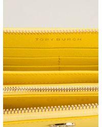 Tory Burch - Yellow 'Robinson' Zip Around Wallet - Lyst