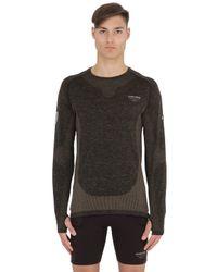 Nike Black Dri-fit Knit Long Sleeve Top for men