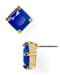 Ralph Lauren | Blue Lauren Faceted Stone Stud Earrings | Lyst