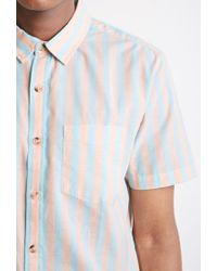 Forever 21 - Blue Awning-striped Shirt for Men - Lyst