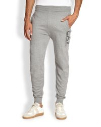 Emporio Armani - Gray Logo Sweat Pants for Men - Lyst