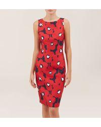 Hobbs - Red Adele Shift Dress - Lyst