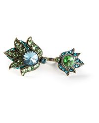 Lanvin - Blue Crystal Embellished Belly Button Ring - Lyst