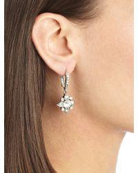 Oscar de la Renta - Metallic Swarovski Crystal Petite Drop Earrings - Lyst