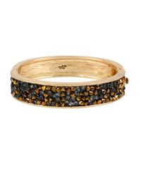 Kenneth Cole | Black Sprinkle Stone Hinged Bangle Bracelet | Lyst