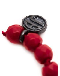 Joseph Brooks - Red Coral Beaded Bracelet for Men - Lyst