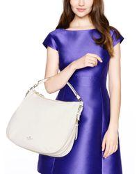 Kate Spade | White Alice Street Adriana Colorblock Satchel Bag Pebbleblack | Lyst