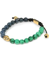 Nialaya | Blue Buddha Coral Malachite And Gold-plated Beaded Bracelet for Men | Lyst