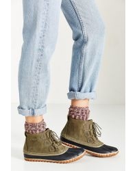 Sorel | Green Out 'n About Leather Boot | Lyst