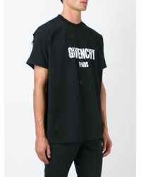 Givenchy Black Distressed Effect T-shirt for men