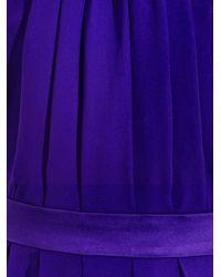Juan Carlos Obando Purple Silk Halterneck Gown
