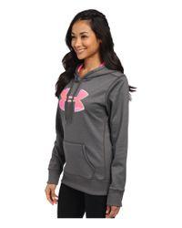 Under Armour - Gray Ua Storm Armour® Fleece Printed Big Logo Hoodie - Lyst