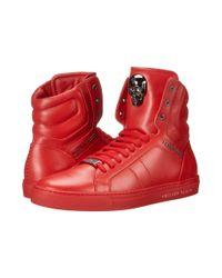 Philipp Plein - Red Signed High Sneaker for Men - Lyst