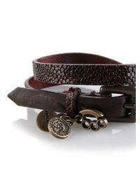 DIESEL | Brown Arayy Twist Bracelet for Men | Lyst