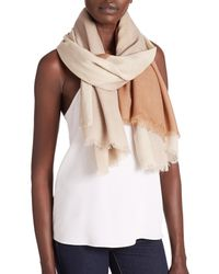 Tory Burch | Natural Mosaic-print Wool Scarf | Lyst