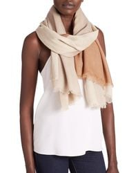 Tory Burch | Brown Mosaic-print Wool Scarf | Lyst