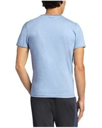 BOSS Green | Blue T-shirt: 'tee 4' With A Round Neckline for Men | Lyst